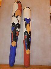 "Arts of Africa - Fang Mask M / F - Gabon -  - 45"" H x 7""W  - 41"" H x 6.5"" Wide"
