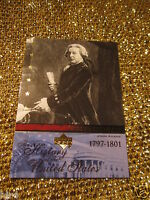 John Adams USA History Upper Deck US President Trading Card