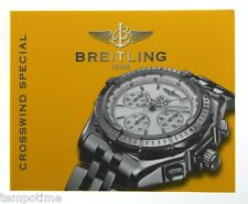 BREITLING CROSSWIND SPECIAL A44355 RARE VINTAGE WATCH BOOKLET INSTRUCTION MANUAL