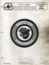 1975 Arctic Cat Snowmobile El Tigre Parts Manual