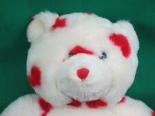 BIG WHITE RED POLKADOT HEARTS BUILD A BEAR TEDDY VALENTINE LOVEY PLUSH STUFFED