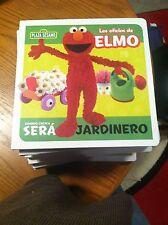 SESAME STREET IN SPANISH---LOS OFICIOS DE ELMO---JARDINERO--NEW IN PLASTIC