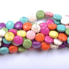 1Strand Turquoise Howlite Round Candy Coin Beads Jewelry Making Charms 12X6MM #5