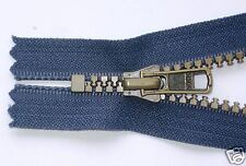 2 x cerniera, zip, chiusura lampo,blu, 16 o 18 catena 6 YKK
