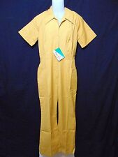 Vintage 60s VSI Very Special Individuals Jumpsuit Uniform Women's Size 14 Gold
