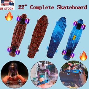 22 inch Skateboard Mini Cruiser Penny Style Board Plastic Deck for Kids Teens US