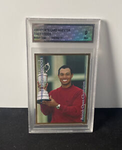 2001 Tiger Woods British Open Champion Graded Trading Card