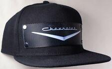 Hat Cap Front Nylon Strap Chevrolet Chevy V 1955 Black CHAT