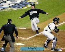2003 WORLD SERIES 8x10 PHOTO (Jeff Conine Scores vs Yankees) FLORIDA MARLINS WIN