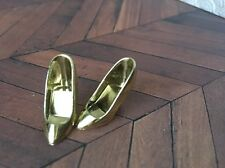 Gold Shoes Barbie Doll Disney Store Heels Metallic