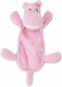 """Spot Ethical Goofy Grins pink Hippo 13"""" Soft plush squeaker head & crinkle body"""