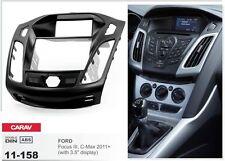 CARAV 11-158 2Din Marco Adaptador Kit Instalacion de Radio FORD Focus III, C-Max
