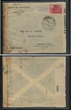 Cameroun  overprinted stamp on double censor cover to US       MS0216