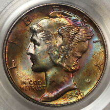 1940-D Mercury Dime, PCGS MS-66 Old Holder, Stunning Original Toning!!!!