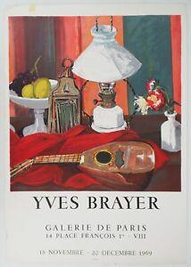 [AFFICHE D'ART] Yves BRAYER : Nature morte, #Galerie de Paris, Paris, 1969