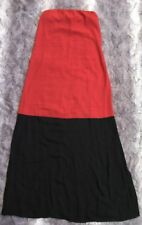 Ann Taylor Loft Orange Black Color Block Halter Sundress Sz XS Full Length Beach