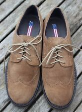 US POLO ASSN Taupe Brown Suede Brogue Chunky Lace Up Shoes - EU 38 - UK 5