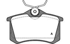 4x OPEN PARTS Pastillas de Freno Traseras Para VOLKSWAGEN CORRADO BPA0263.01
