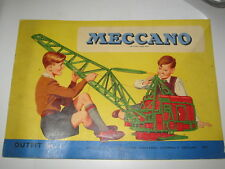 MECCANO INSTRUCTIONS FOR OUTFIT No 1
