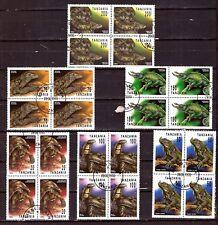 ZY 147 TANZANIE 1994 6 blocs de 4T. Les reptiles:serpent,tortues,iguanes,varans,