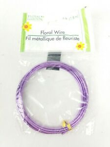 Floral Garden Crafting Floral Wire 6 FT  1.8 m Purple