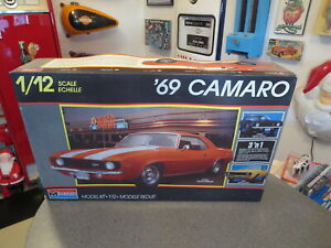 REVELL MONOGRAM 1/12 1969 CHEVY CAMARO Z-28 KIT IN BOX