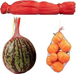 Watermelon Nets, 100 Pack 15.7 Inches Reusable Fruit Melon Net Bag for Prod