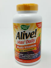 Nature's Way Alive! Max3 Daily Multi-Vitamin Supplement Max Potency 180 Tablets