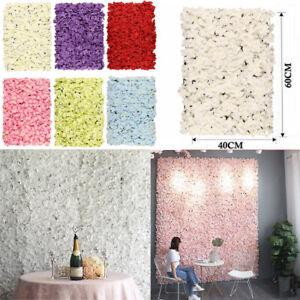 40*60cm Artificial Flower Wall Hydrangea Panel Bouquet Wedding Party Home Decor