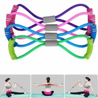 Fitness Elastic 8 Word Resistance Bands Tube Exercise Workout Band For Yoga