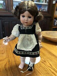 "Diamant Doll France German? Hard Plastic  Bisquloid Strung 15"" Tyrolean Basque"