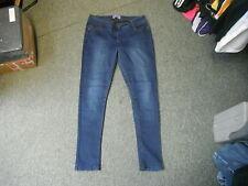 "George Super Skinny Jeans Size 14 Leg 29"" Faded Dark Blue Ladies Jeans"