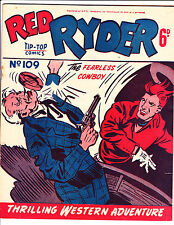 "Red Ryder No 109 1950's -Australian-""Ashtray To The Face Cover ! """