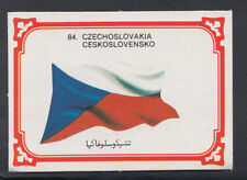 Monty Gum 1980 Flags Cards - Card No 84 - Czechoslovakia  (T654)