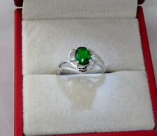 Emerald Solitaire Oval Costume Rings
