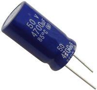 Condensateur électrolytique chimique 4700µF 50V THT 85°C  Ø22x41mm radial