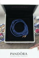 PANDORA   GENUINE Blue String Cord 14ct Ends Bracelet / Necklace: 350960CBE-100