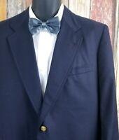 Brooks Brothers Men's Blue Wool Gold Buttons Sport Coat Blazer 42R Regular USA