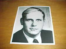 Louisiana Governor David Treen Autographed Signed Photo with inscription
