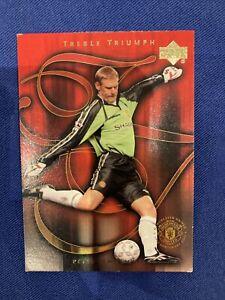 Upper Deck 2002 Manchester United Card- Peter Schmeichel Treble Triumph #52