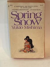 SPRING SNOW BY YUKIO MISHIMA BOOK 1973 PAPERBACK EROTIC STORY OF YOUNG LOVE