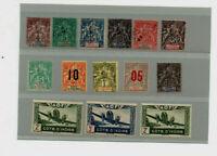 11 timbres AOF/COTE D IVOIRE groupe allégorique + 3 aériens