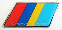 ADESIVO LOGO FREGIO RESINATO 3D PEUGEOT 65 mm x 35 mm - NUOVO