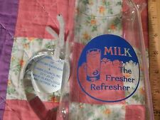 "American Dairy Assoc. (Glass Pitcher) Milk ""The Fresher Refresher"" Vtg. Agr._4H"