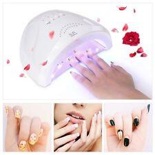 Lampada UV 48W LED fornetto ricostruzione unghie gel nail tips colata sensore