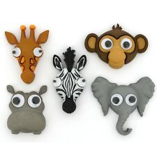 Jesse James Buttons ~ Dress It Up - LIVE'S A ZOO 10407 Animals Sew Craft