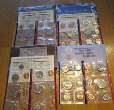1995 1996 1997 1998 US Mint Mint sets  with COA 96 W Dime