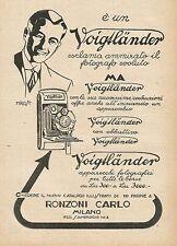 Y0695 Voigtlander - Apparecchi fotografici per tutte le borse - Pubblicità 1927