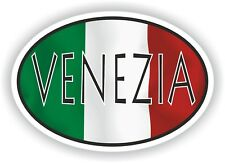 Venezia OVAL WITH ITALIAN FLAG STICKER ITALY ITALIA AUTO MOTO TRUCK LAPTOP