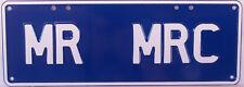 MR MRC Novelty Number Plate